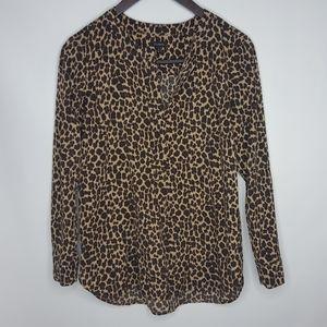Talbots Cheetah Animal Print Blouse Medium